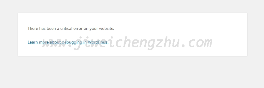 "WordPress安装失败,提示""There has been a critical error on your website."""